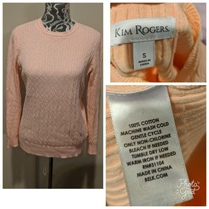 Beautiful Light Coral Sweater by Kim Rogers!